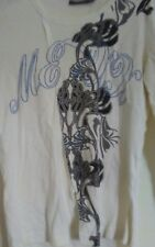 mexx cream long sleeve top with floral design S
