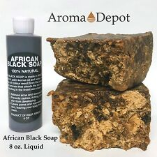 8 oz. Liquid African Black Soap 100% Pure Authentic Raw From Ghana Natural