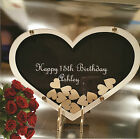 Birthday Baby Shower Engagement Wedding Personalised Wooden guest book drop box