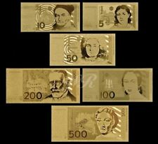 DM / D-MARK SET - GOLD BANKNOTE