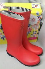 Joules Roll Up Red Welly Mid Tall Height Wellingtons Wellies Box Size 3 New