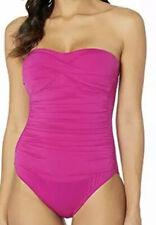 Ralph Lauren Women's Purple Beach Club Twist Bandeau One-Piece 2112 Size 10