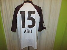 """FC St.Pauli Original Stanno Matchworn Trikot 03/04 """"mobilcom"""" + Nr.15 Agu Gr.XL"""