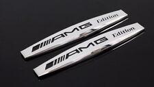 2 Stickers Logo Métal 3D pour Ailes Mercedes Classe A B C E ML GLK Styling AMG