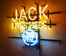 """JACK LIVES HERE"" Restaurant Bar Pub Hand Made Real Glass Neon Sign Light Poster"
