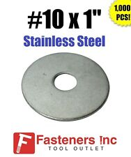 "(Qty 1000) #10"" x 1"" OD Stainless Steel Fender Washers Type 304"