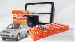 For Kia Sportage KM G6BA 2.7L V6 05~09 AIR OIL FILTER SPARK PLUGS SERVICE KIT