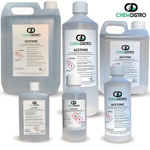 PURE ACETONE 100ml 250ml 500ml 1 Litre 1000ml 2 Litre 99.8% Gel polish remover
