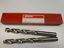 PACK OF TWO  NACHI 19/32 DRILL B77270 STRIGHT SHANK DRILL HSS NIB JAPAN