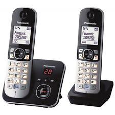 Panasonic KX-TG6822GB DECT Schnurlostelefon AB, Set Basis+2 Mobilteile, schwarz