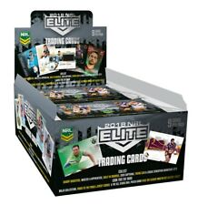 2018 NRL ELITE FACTORY SEALED CASE with CASE CARD & 2 x TRADING CARD ALBUMS