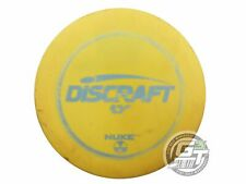 Used Discraft Esp Nuke 174g Yellow Lt Blue Stamp Distance Driver Golf Disc