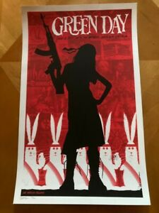 Green Day 2009 Wachovia Spectrum Poster Todd Slater Numbered Signed