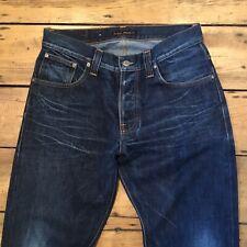 Rare! Mens NUDIE Jeans Average Joe Distressed 'Whisper Dark' W33 L32