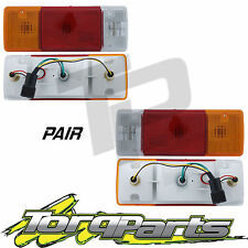 TAILLIGHTS PAIR SUIT TOYOTA HILUX 11-15 TRAY SQUARE PLUG TAILLAMPS TAIL LIGHTS