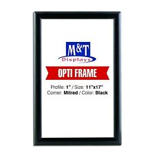 """Snap Frame 11x17, 1"""" Profile, Aluminum, Wall Mounted - Black / 1pc, Front Load"""