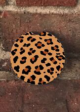Leopard Lilly Inspired/ Car Coasters (Set Of 2)