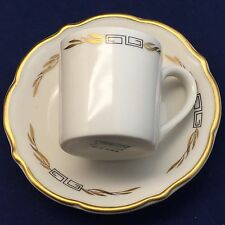 Syracuse China Restaurant Carriage Trade Greek Key Laurel Demitasse Cup & Saucer