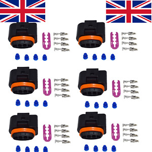 VW AUDI R8 TFSI Ignition Coil Coilpack Connector Set With Terminals 1J0973724 x6