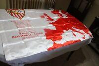 BANDERA  DE FUTBOL DEL SEVILLA F.C. FINAL SUPERCOPA EUROPA REAL MADRID   FLAG
