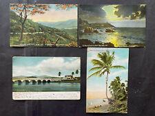 Puerto Rico 1920-1970, Post Card lots of 4ea Lote 4 Tarjetas Postal, postmarked