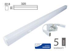 Plafoniera Tubo Led T5 30cm 4W Caldo 3000K Lineare Raccordabile Allungabile