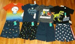 new LOT BOY 4T toddler 4 summer clothes outfits 4x short & 4x  t-shirt