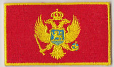 Montenegro Country Flag Embroidered Patch T4