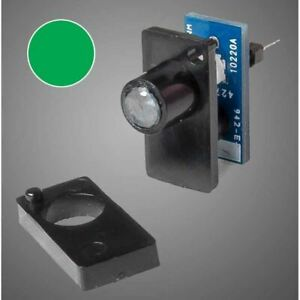 Walthers 942-154 Single Color LED Fascia Turnout Track Indicator, Green