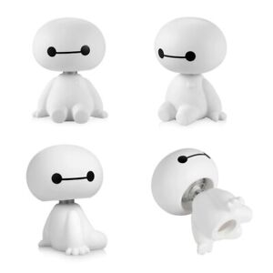Cartoon Plastic Baymax Robot Shaking Head Car Ornaments Interior, home Deco