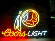 "New Coors Light Washington Redskins Neon Sign 20""x16"""