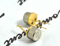 1pcs - BF338 NPN 0.8W 200V 0.1A Gold-Pin Transistor - NOS