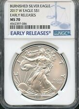2017 W Burnished Silver Eagle Early Releases NGC MS70