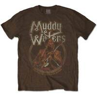 MUDDY WATERS Father Chicago Mens T Shirt Sand Unisex Official Licensed Merch