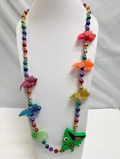 Women's Jewelry Florida Sunfest Mardi Gras Multi Color Beads Fish Long Necklace