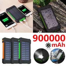 900000mAh Solar Power Bank Portable Polymer Battery External Charger Waterproof