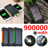 900000mAh Solar Power Bank Portable Polymer Battery External Charger Waterproof