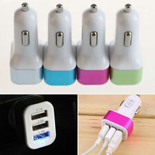 Universal 12V 24V To 5V 3Port USB Car Mini Charger Adapter Cradle For Cell Phone