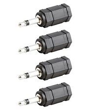 "4x 3.5mm 1/8"" Mono Male Plug to 2.5mm Stereo Female Jack Headphone Audio Adapter"