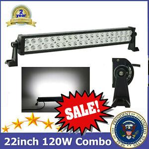 22'' 120W LED SLIM Combo Light Bar 12V 24V Chevrolet SUV Tractor Vehicle Boat