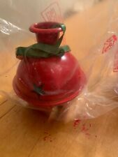 2 Large Red Sleight Bell  Candle Holders P4