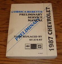 1987 Chevrolet Corsica Beretta Shop Service Manual 87 Chevy