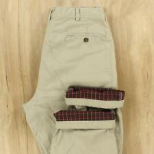 LL BEAN flannel lined khaki pants 38 x 29 tag light tan beige chino