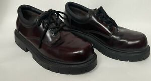 VTG Bugle Boy Lace Up Oxfords Chunky Heels Burgundy 6559 Leather Upper 8