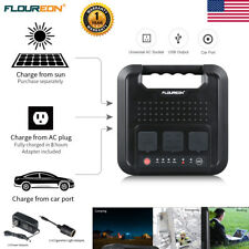220Wh 600W Energy Storage Portable Power Solar Generator Inverter USB Gas-free