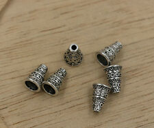 150pcs   7mmx7mmx10mm Antiqued Silver Bali Style Bead End Caps Cones