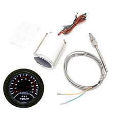 "2"" Race Car LED Exhaust Gas Temperature Temp EGT Gauge Meter Sensor 200-1200℃"