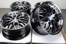 17x7.5 5x112 Black Wheels Fits Mercedes Volkswagen Cc Beetle Eos Gti 5 Lug Rims