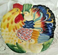 Ricamo Ff Fitz & Floyd Classic Ceramic Hen Chicks Serving Tray Plate Dish Farm