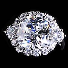 *STUNNING* RADIANT CUT CLEAR CZ COCKTAIL RING_SZ-7__925 STERLING SILVER
